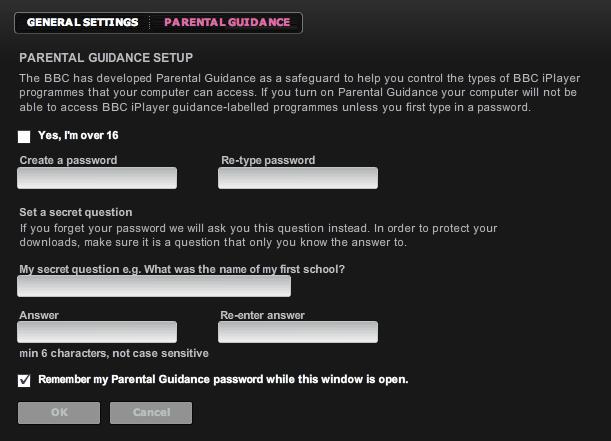 iplayer desktop parental guidance