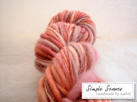 Handspun Corriedale in Life is Peachy