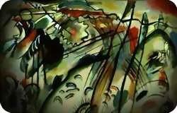 Improvisación 28 (segunda versión), pintada por Wassily Kandinsky en 1912, refleja el empeño de este artista ruso por expresar mediante trazos y colores intensos el contenido espiritual de su obra y, en este caso concreto, la conexión entre las artes plásticas.