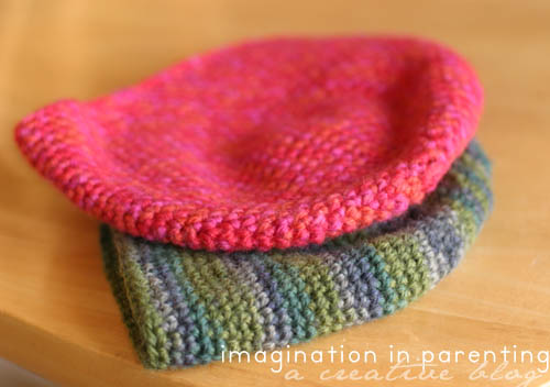 beautiful handknit hats