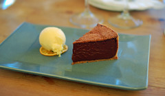 Chocolate Tart with Tangerine Ice Cream