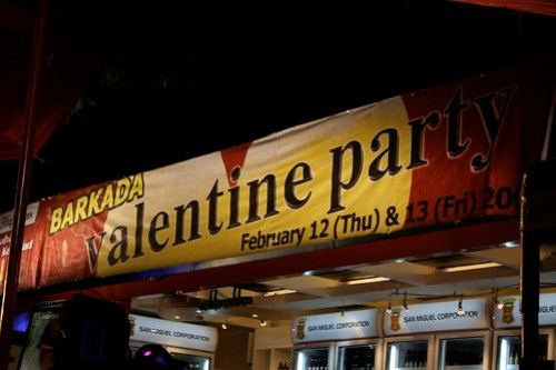 Pre-valentine party hosted by San Miguel