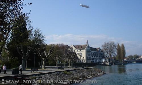 Konstanz Inselhotel mit Zeppelin NT