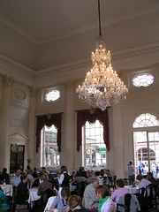 The Pump Room, looking over the Roman Baths, Bath, UK
