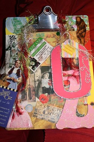 Wizard of Oz Clipboard with Oz swag for Swap