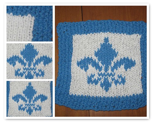 Quebec Fleur de Lys Dishcloth