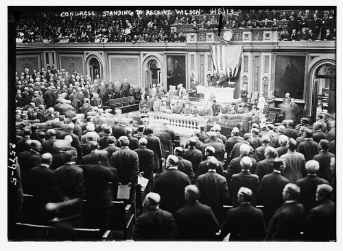 Congress standing to receive Wilson  (LOC)