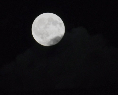 Moon with a bit of cloud