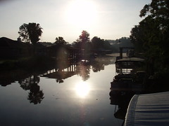 the canal in the morning