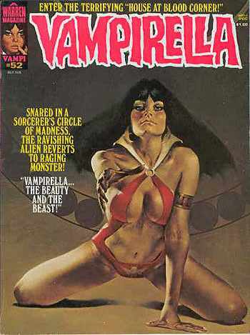 El trajebañito de la vampi siempre permite a un artista exponer unas bellas tetas en la portada.