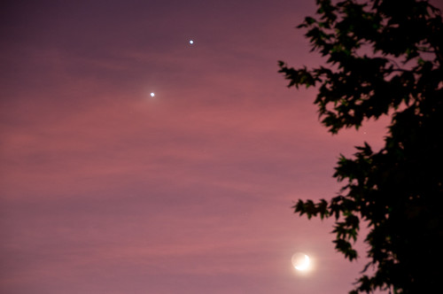 Venus, Jupiter, and the Moon