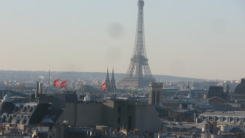 View of Paris from top of Pompidou