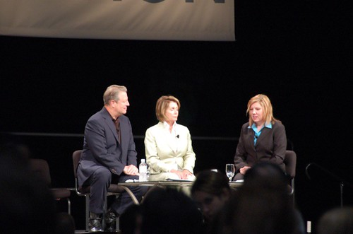 Former Vice President Gore (left) House Speaker Pelosi (center) preside on Death Panel for unidentified young woman.