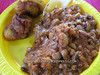 black-eyed bean stew and more plantains