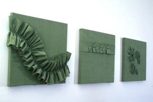 three green panels