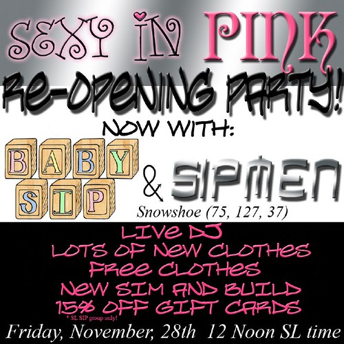 Sexy in Pink--YOURE INVITED!