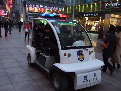 Polizei auf der Nanjing Lu (Bild von Dominik)