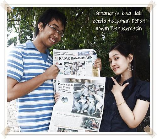 Akhirnya, pernah juga merasakan sesi pemotretan oleh koran setempat. Its really fun.