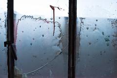 Die Fensterscheiben sind morgens gefroren...