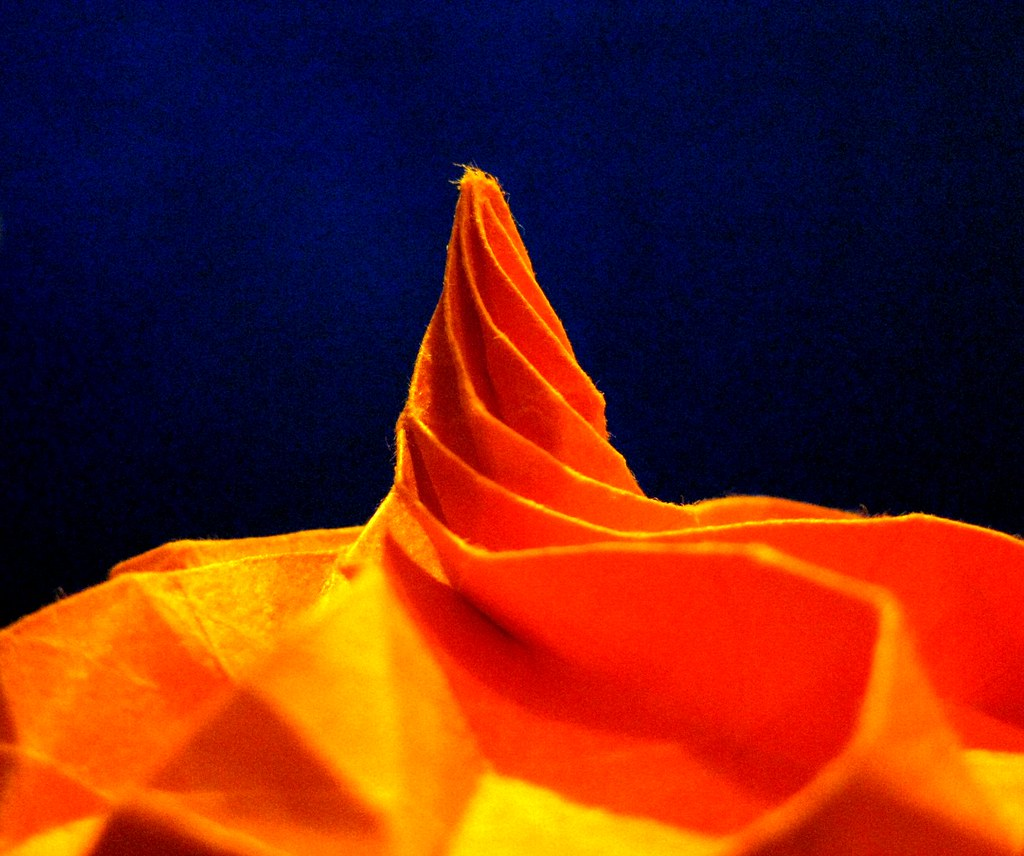 Orange Octagons for October Detail