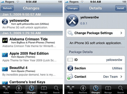 iPhone 3G soft unlock