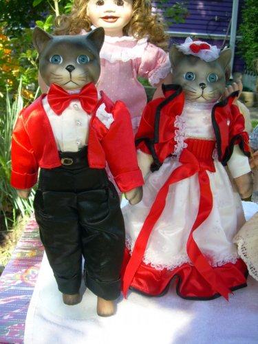 Terrifying cat dolls