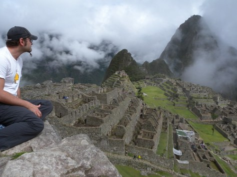Zieak overlooking Machu Picchu
