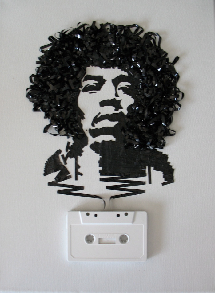 Retrato de Jimmy Hendrix