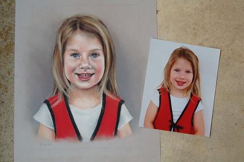 Pastel portrait.
