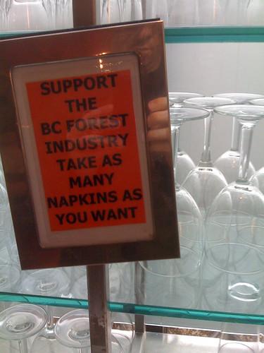 Cheeky Sign at VAG Cafe