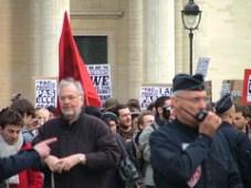 Fin de manifestation à Panthéon