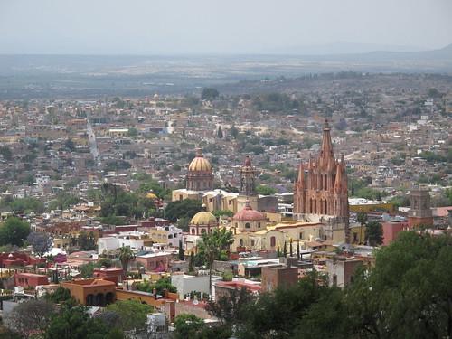 Beautiful San Miguel de Allende from above