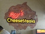 roy's cheesesteaks - the signage