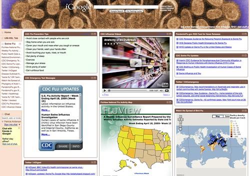 iGoogle Tab: Swine Flu