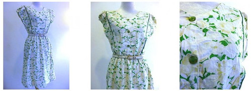 Vintage Dress Green Thumb