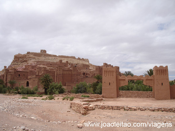 Ksar Ait Benhaddou em Marrocos, local UNESCO Património Mundial no sul de Marrocos junto a Ouarzazate