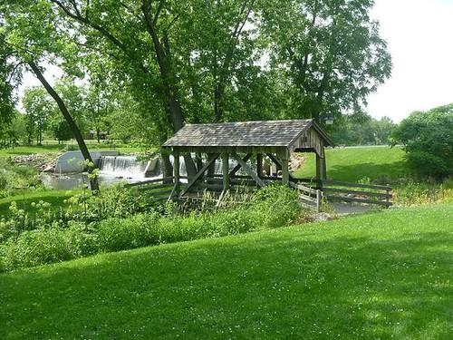WI, Janesville - Beckman Mill 13 - Covered Bridge Walkway