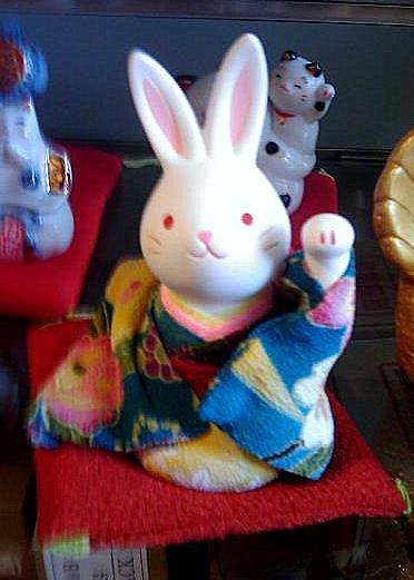 Kimono bunny is welcoming Ilda
