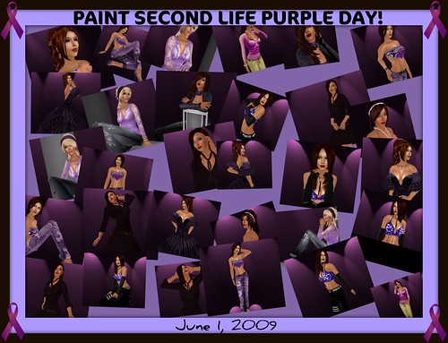 Paint Second Life Purple Day! June 1, 2009