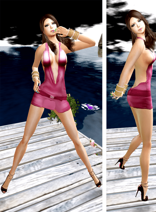 ::HH:: Hucci Peaches Dress - Wild Pink
