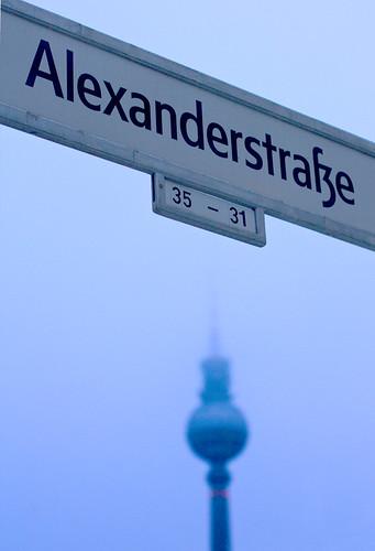 TV Tower from  Alexanderstrasse, Berlin