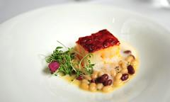 6th Course: Chorizo-Crusted Codfish