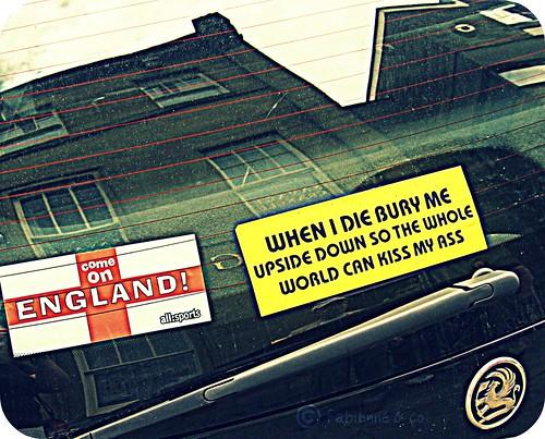 """#02 - """"English pride"""" et humour anglais sur autocollant"""