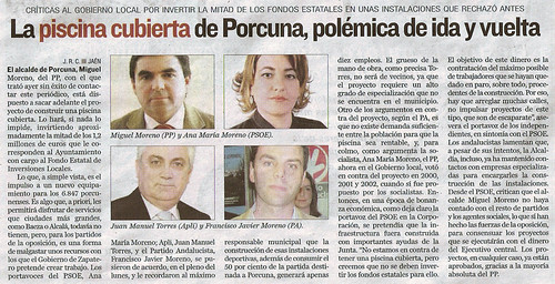 Recorte de prensa. Noticia extraida de Diario Jaén (21/01/2009), página 20.