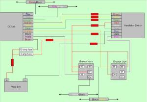 Rostra CC Wiring Diagram and dipswitch settings for DL650