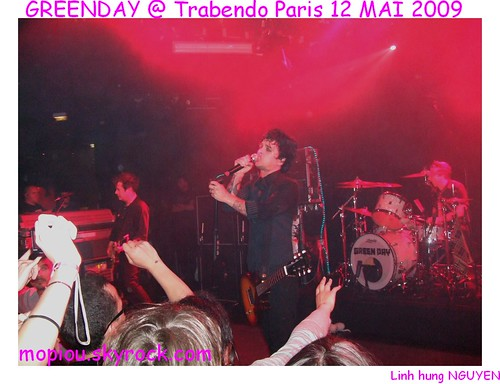 GREEN DAY Live PARIS TRABENDO  12 MAI 2009 Concert NRJ