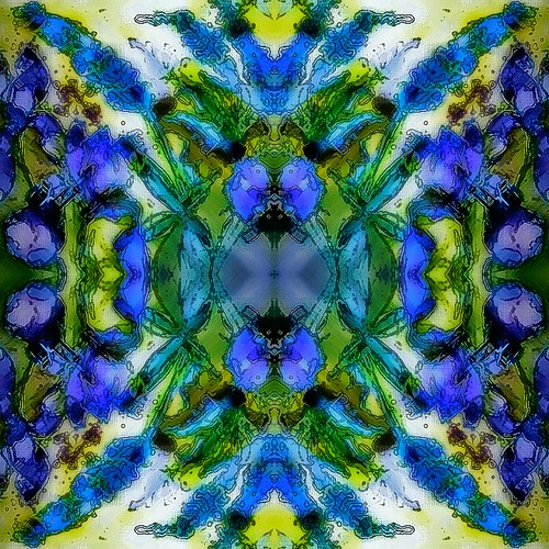 Next I quadrupuled the altered image, flipped and turned them and reassembled them.