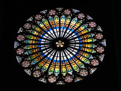 Stained glass from Strasbourg cathedral