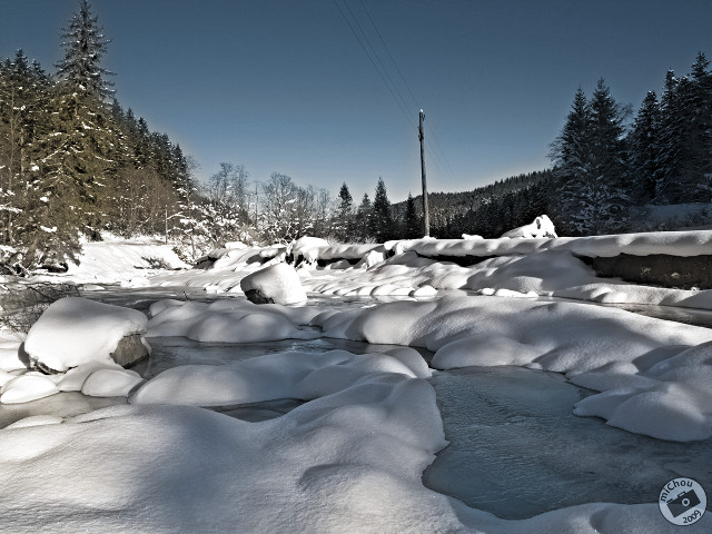 The frozen river