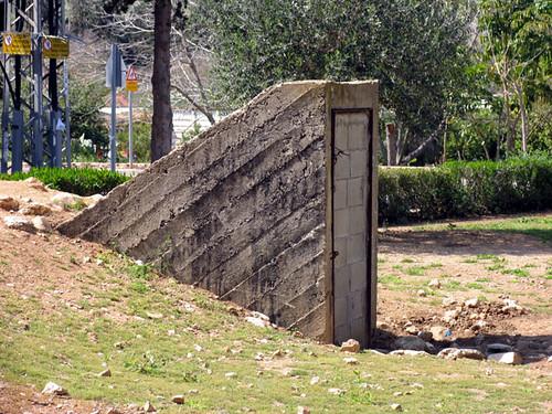 old blocked shelter